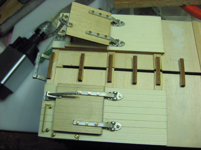 One open hinge
